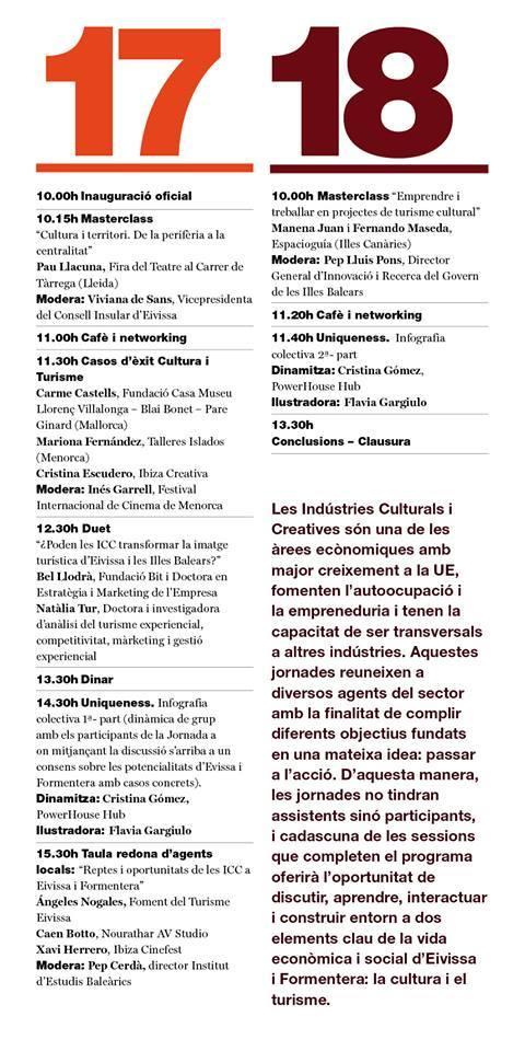 horari jornades Eivissa Formentera